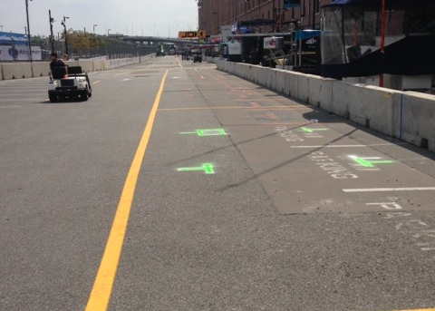 A look down Baltimore's pit lane (Tony DiZinno)
