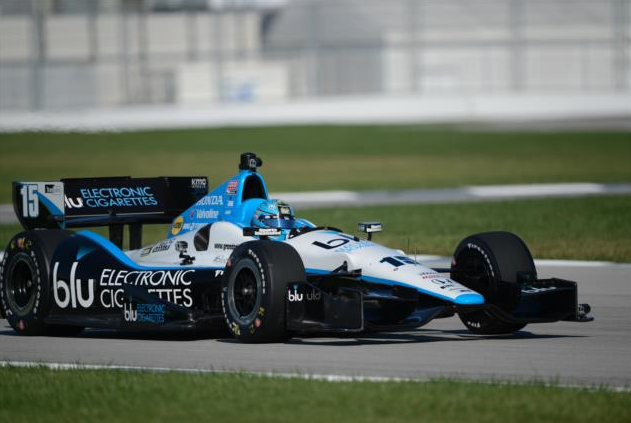 Graham Rahal on the IMS road course (IndyCar photo)