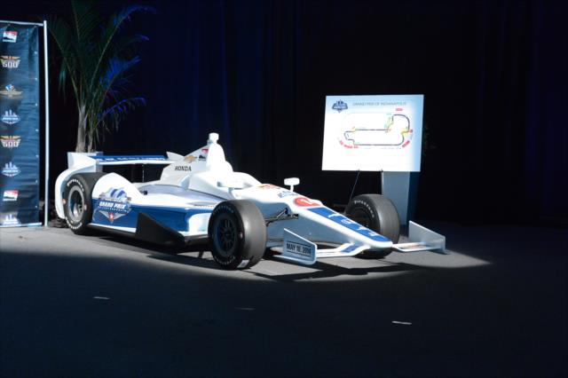 Show car and revised course (IndyCar photo)