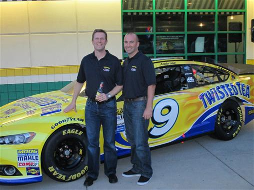 Marcos Ambrose and Jon London of Twisted Tea (Twisted Tea/RPM)