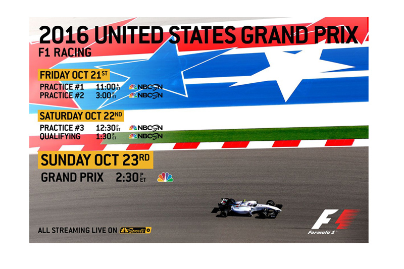 Here Are Your United States Grand Prix Times On Nbc Nbcsn Motorsportstalk Nbc Sports