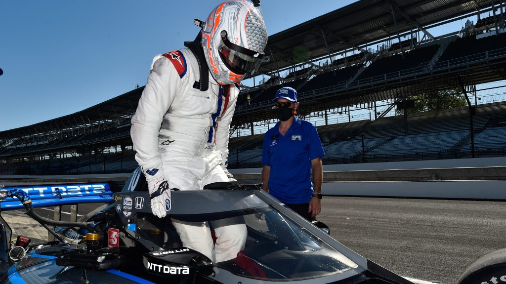 IndyCar Jimmie Johnson test