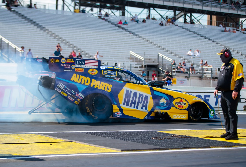 NHRA Ron Capps Indianapolis Funny Car victory finally arrives
