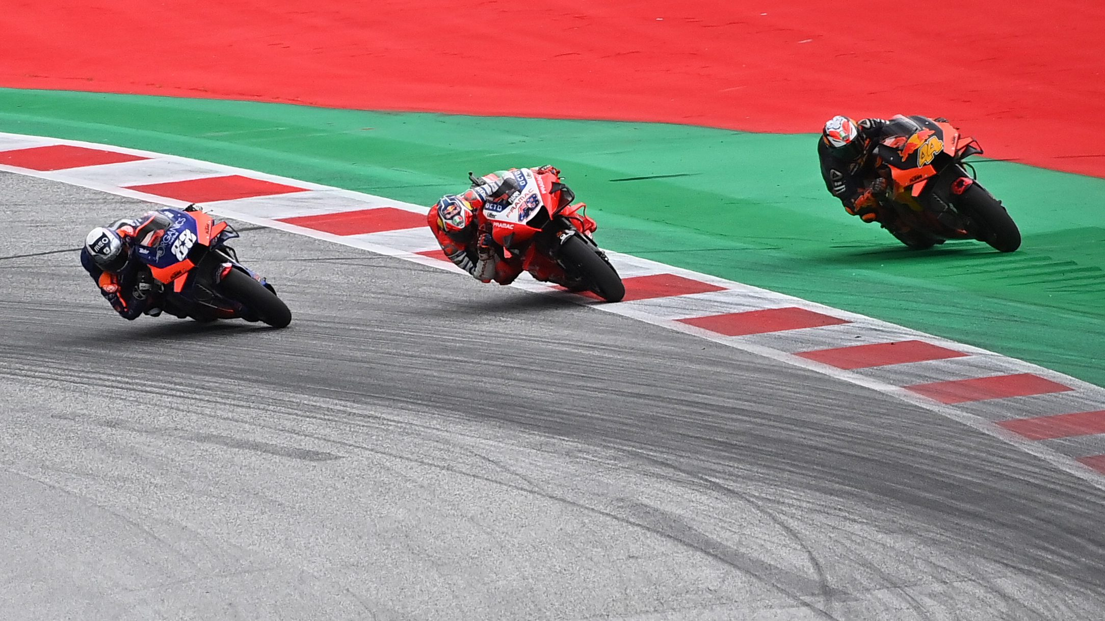 Motogp Oliveira First Victory On Three Wide Pass In Last Corner Nbc Sports