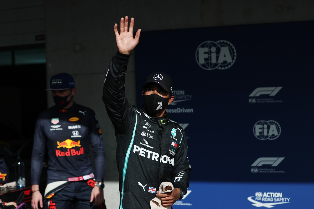 Lewis Hamilton beats teammate Valtteri Bottas for Portugal pole position with final lap