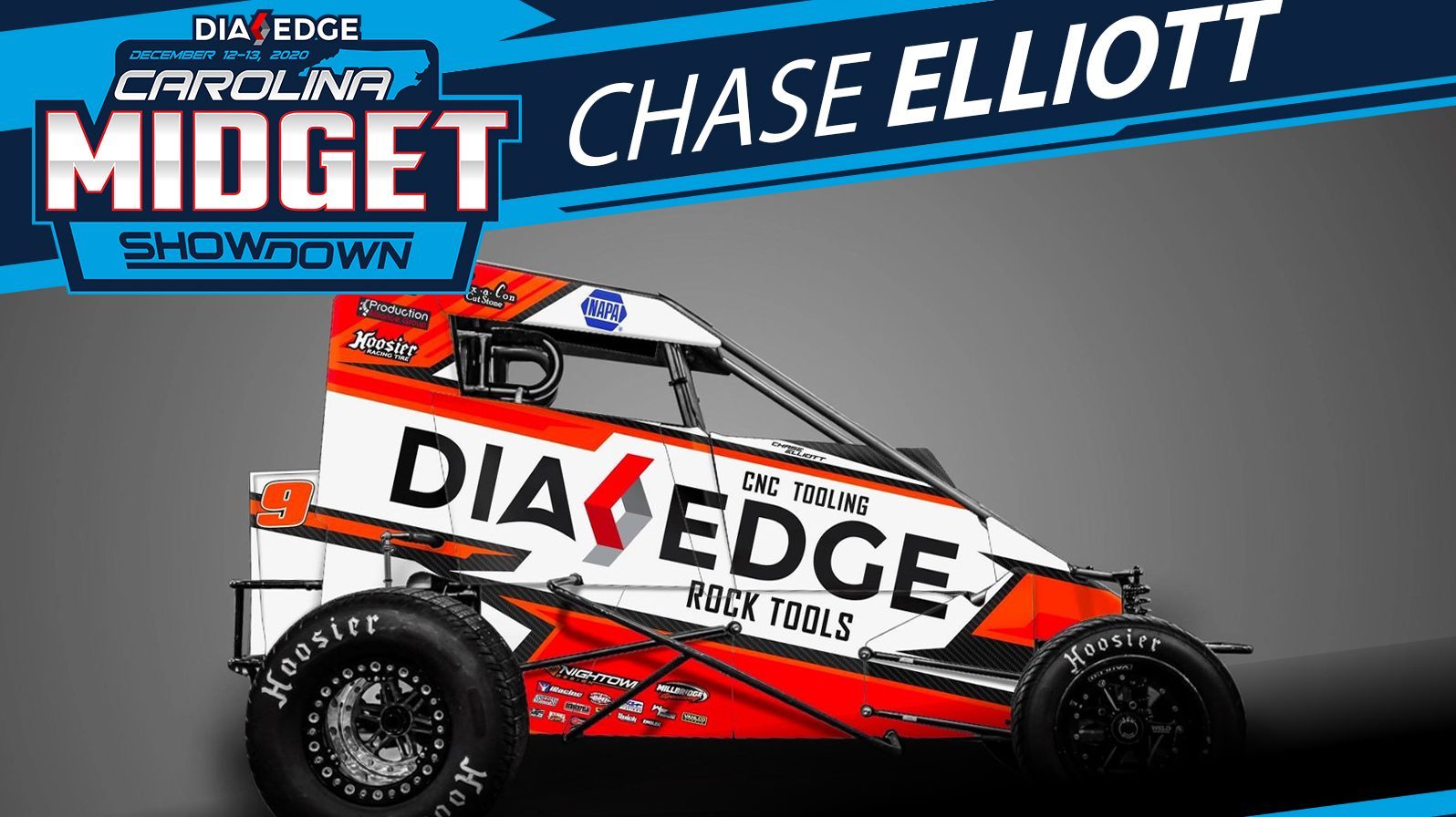 Chase Elliott prepares for Chili Bowl, debuts in midgets at Millbridge Speedway