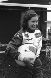 Race Car Driver Janet Guthrie in Racing Outfit
